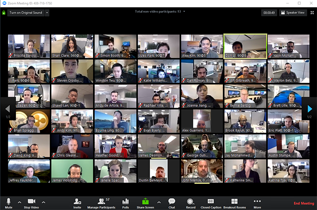 Zoom's Gallery View allows you to see everyone on my video call