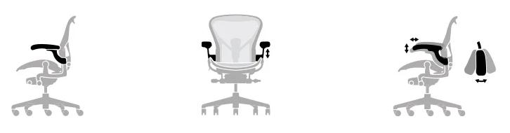 Herman Miller Aeron Size Chart - arm rest