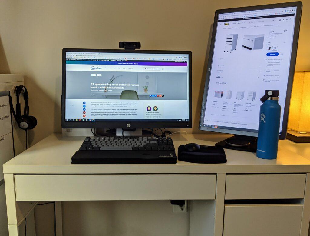 Ikea MICKE, a small desk for remote work